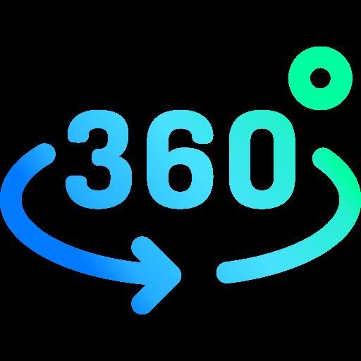 360 Grad Logo. Focus Agency Webdesign in Bern