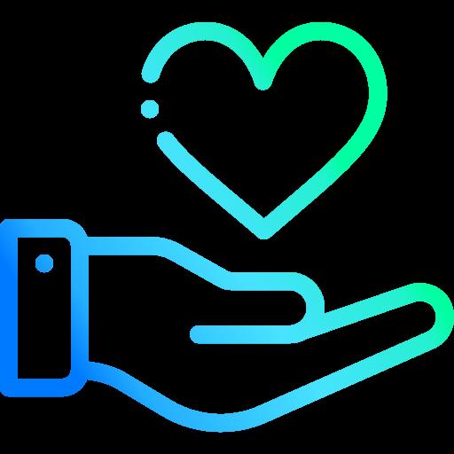 Eine offene Hand mit einem Herz. Focus Agency Webdesign in Bern